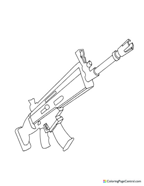 Fortnite – Scar 01 Coloring Page