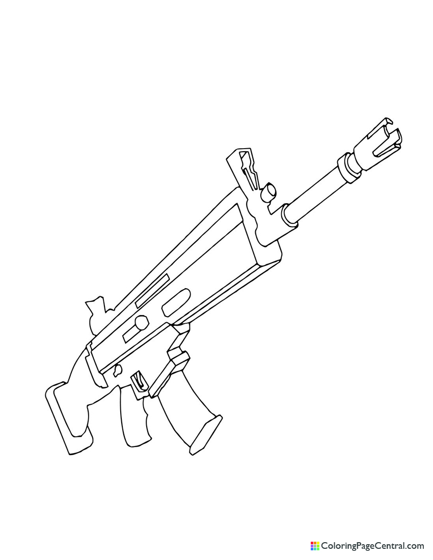 Fortnite - Scar 01 Coloring Page