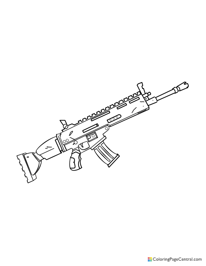 Fortnite - Scar 02 Coloring Page