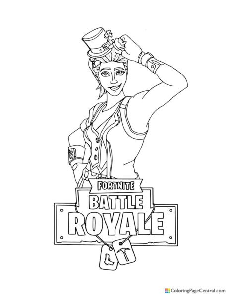Fortnite - Sgt Green Clover Coloring Page