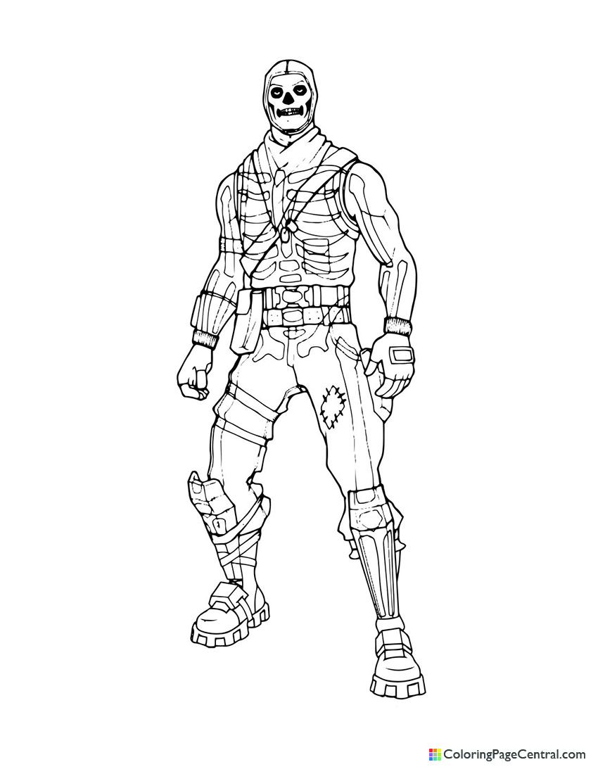 Fortnite - Skull Trooper 01 Coloring Page