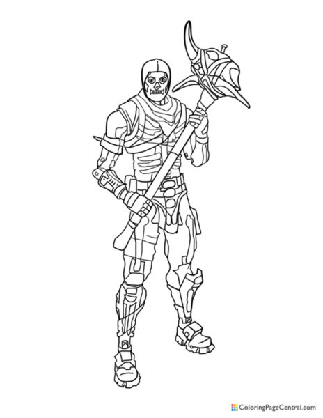 Fortnite – Skull Trooper 02 Coloring Page