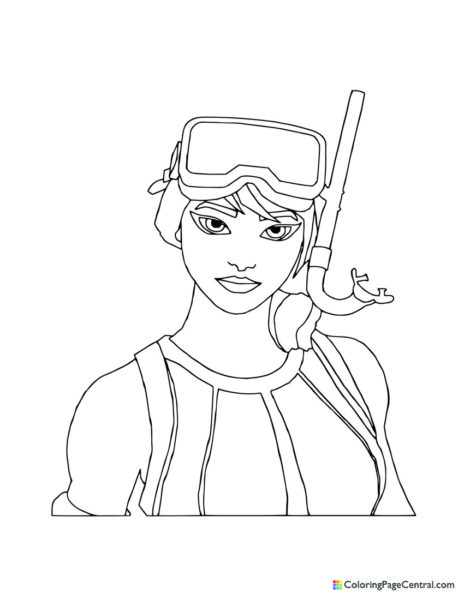 Fortnite – Snorkel Ops Coloring Page
