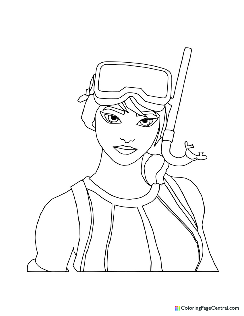 Fortnite - Snorkel Ops Coloring Page