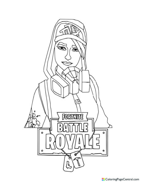 Fortnite – Teknique Coloring Page