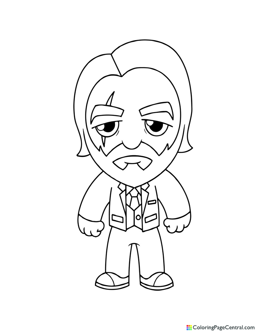 Fortnite - The Reaper Chibi Coloring Page