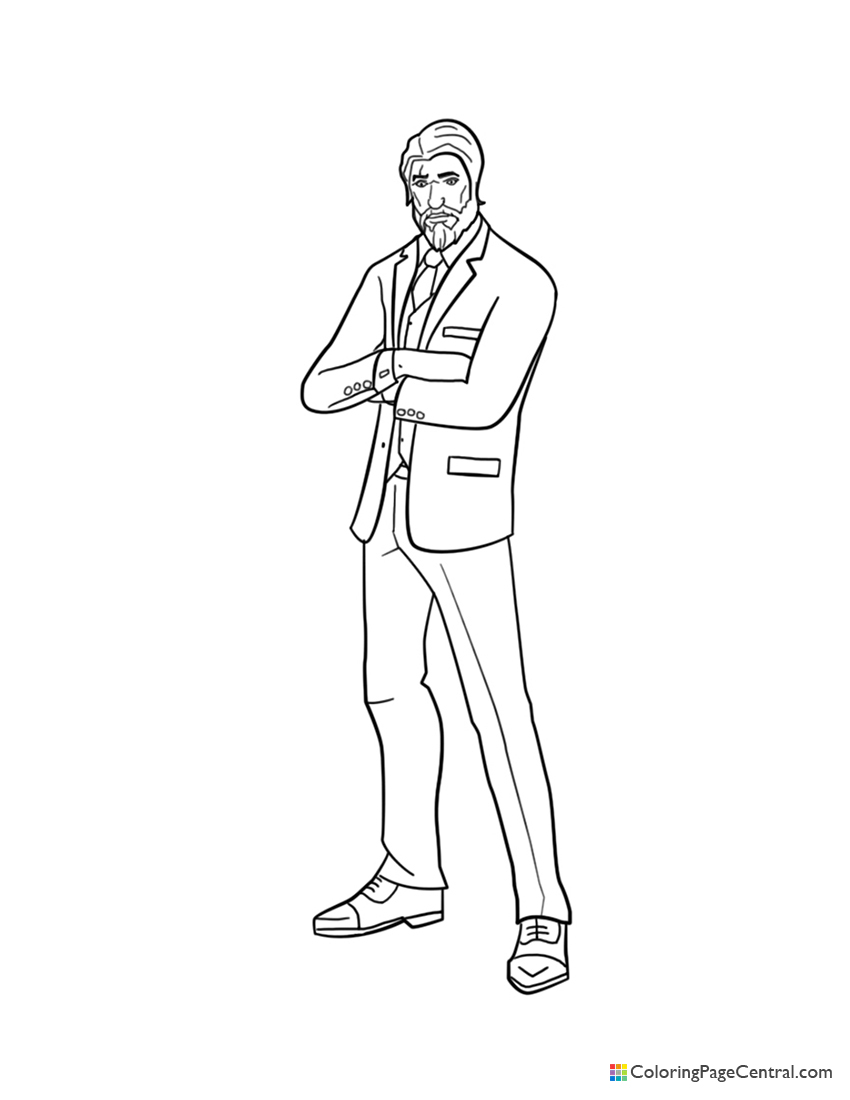 Fortnite - The Reaper Coloring Page