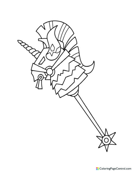Fortnite – Thunder Crash Pickaxe Coloring Page