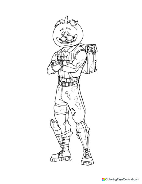 Fortnite – Tomatohead 02 Coloring Page