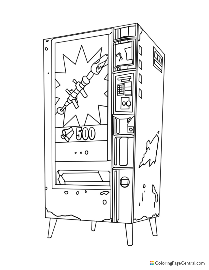 Fortnite - Vending Machine Coloring Page