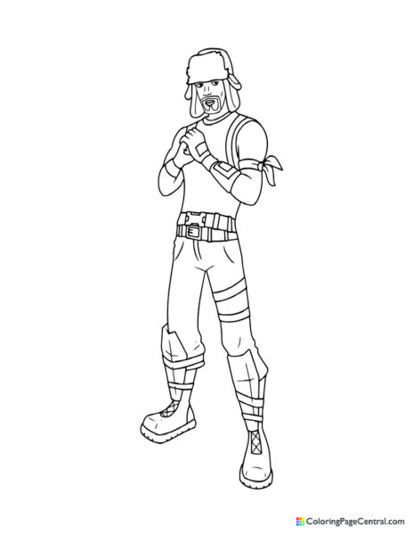 Fortnite – Yuletide Ranger Coloring Page