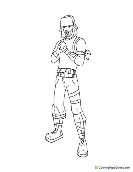 Fortnite – Yuletide Ranger Coloring Page
