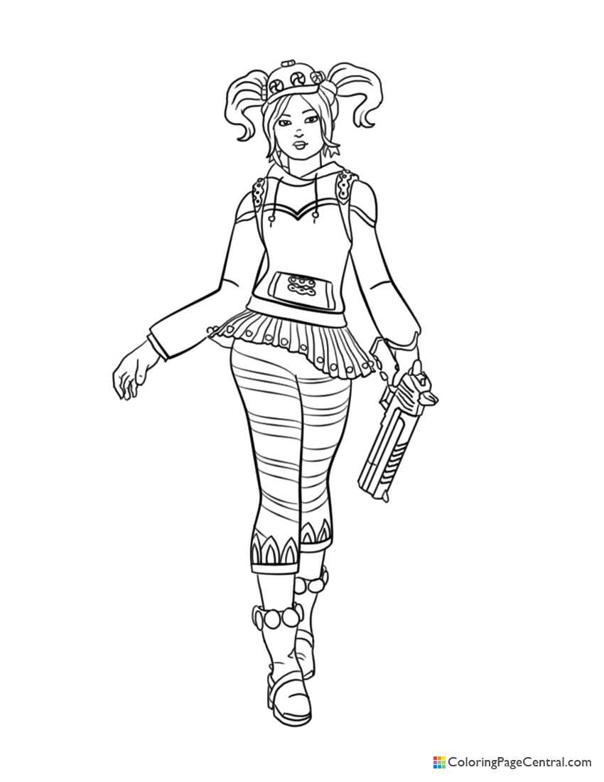 Fortnite Zoey Coloring Page Coloring Page Central