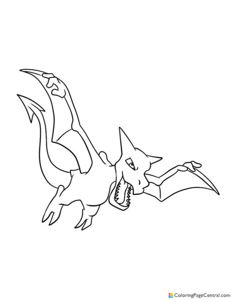 Pokemon - Aerodactyl Coloring Page