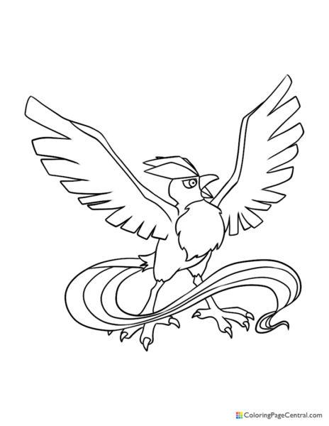 Pokemon – Articuno 02 Coloring Page