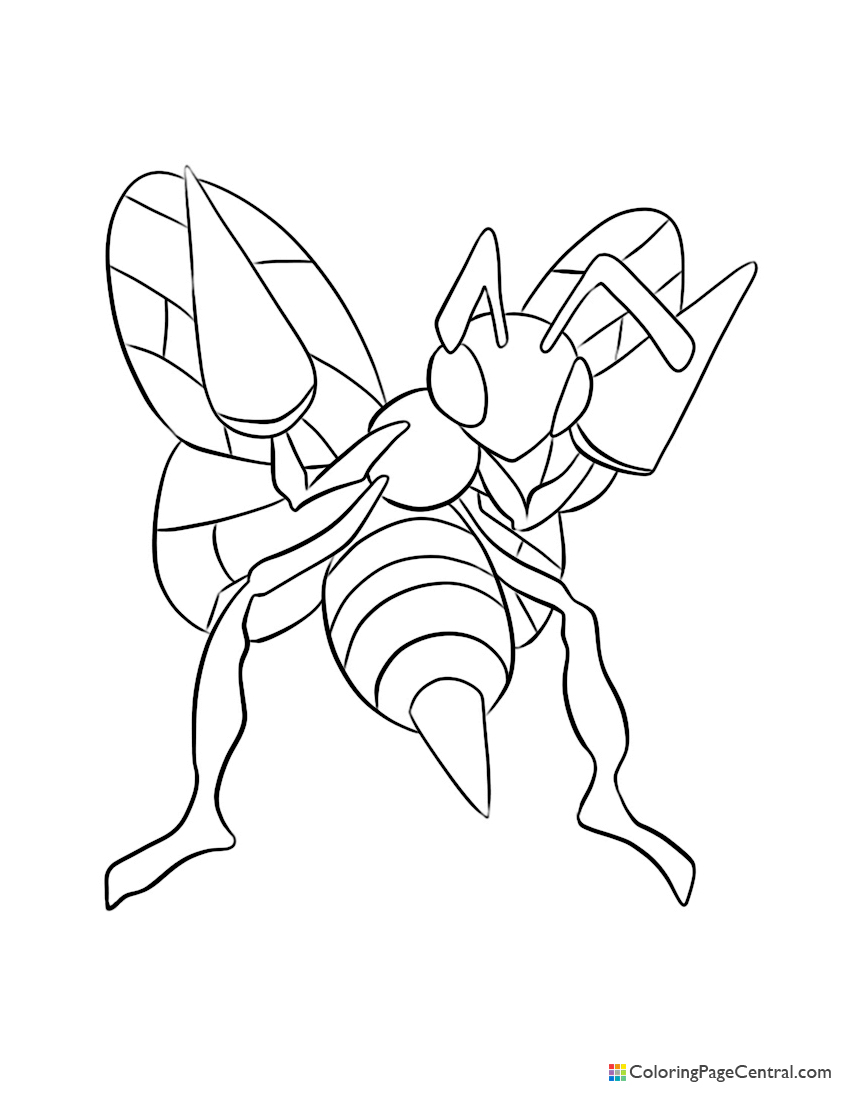 Pokemon - Beedrill Coloring Page