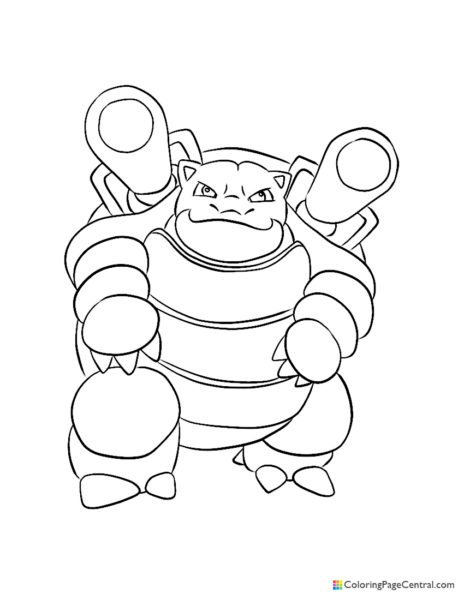Pokemon – Blastoise Coloring Page