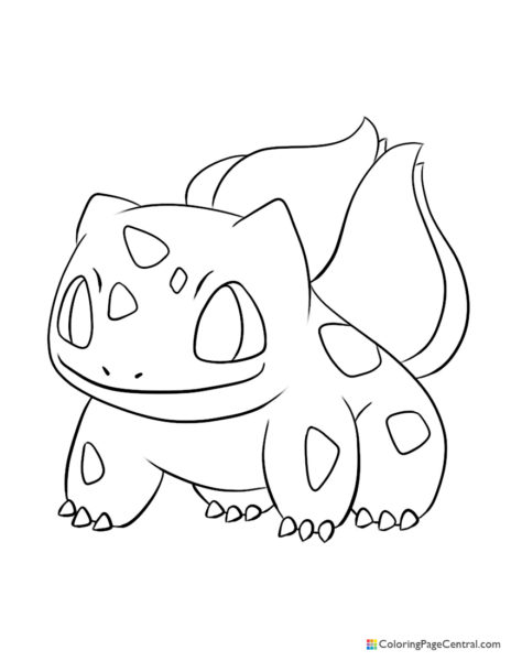 Pokemon – Bulbasaur 02 Coloring Page