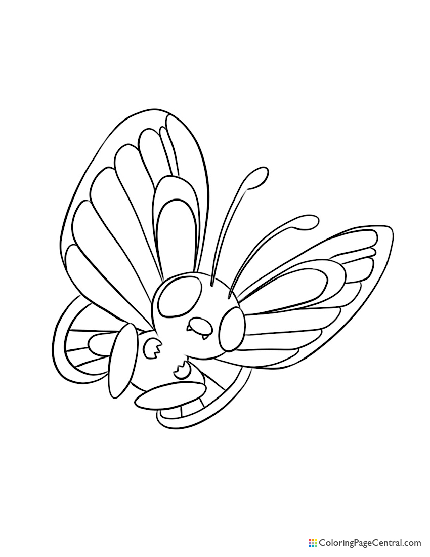 Pokemon - Butterfree Coloring Page