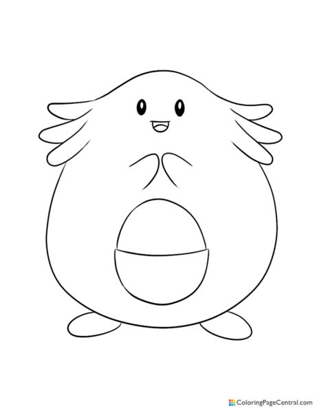 Pokemon – Chansey Coloring Page