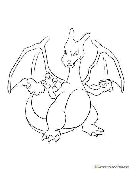 Pokemon – Charizard 02 Coloring Page