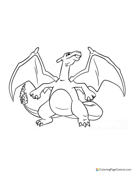 Pokemon - Charizard 04 Coloring Page