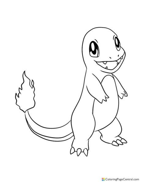 Pokemon - Charmander 02 Coloring Page