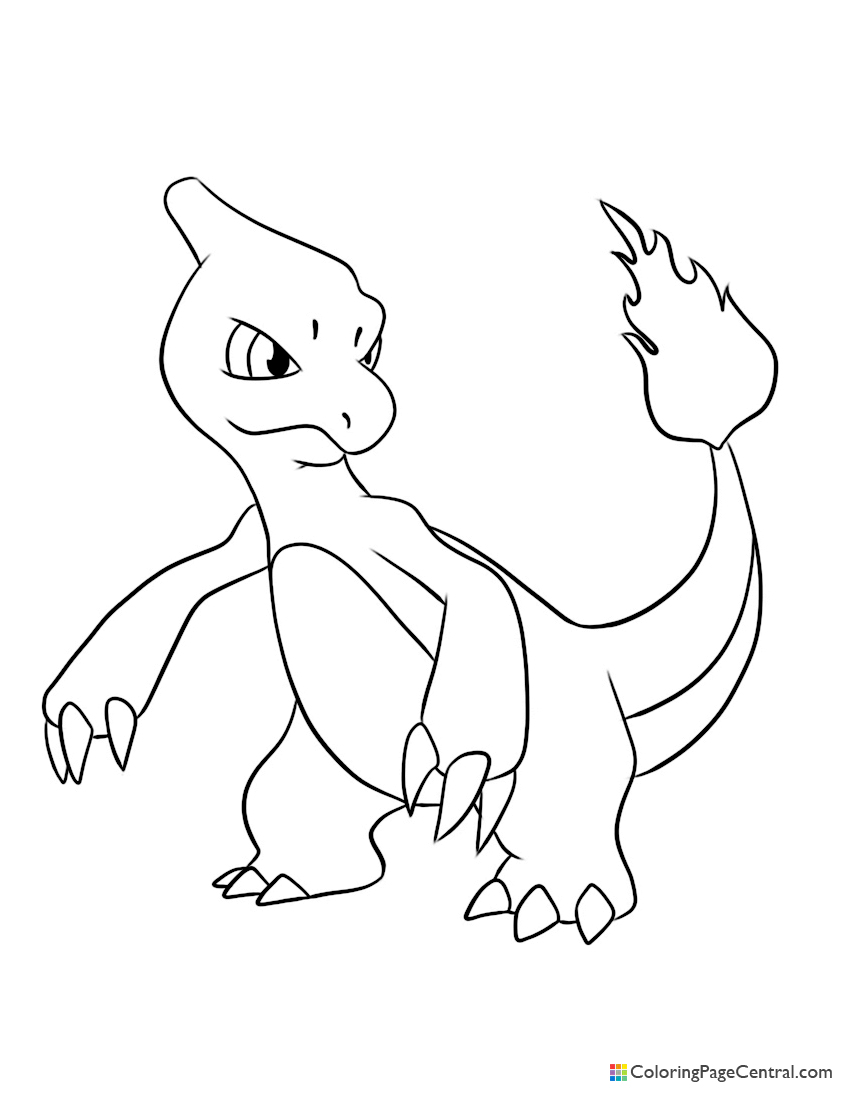 Pokemon - Charmeleon 02 Coloring Page