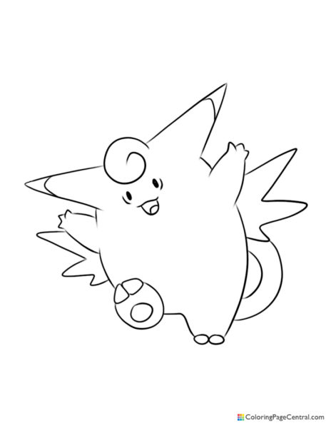 Pokemon - Clefable Coloring Page