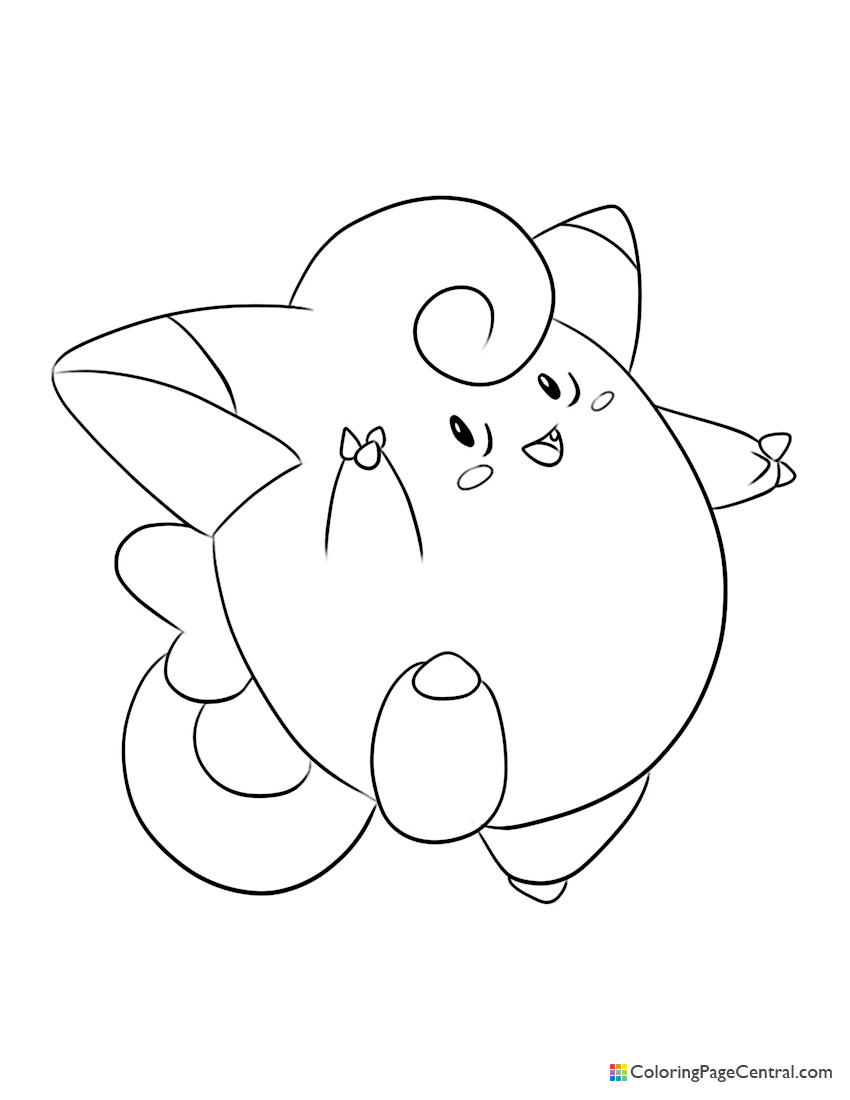 Pokemon - Clefairy Coloring Page