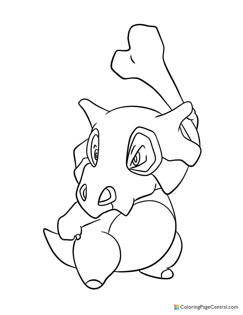 Pokemon - Cubone 02 Coloring Page