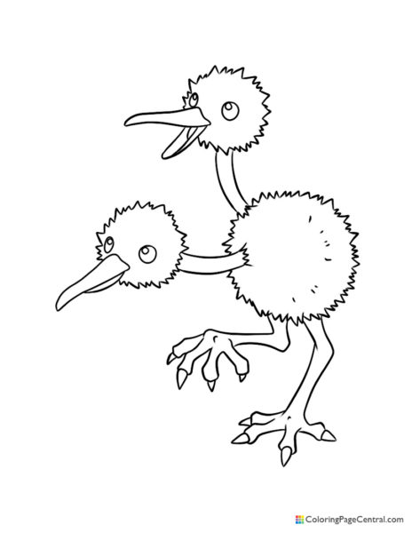 Pokemon - Doduo Coloring Page
