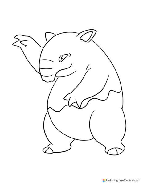 Pokemon – Drowzee Coloring Page