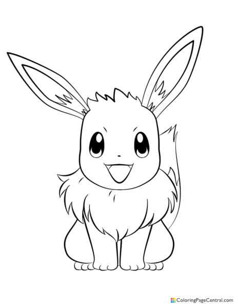 Pokemon – Eevee 02 Coloring Page