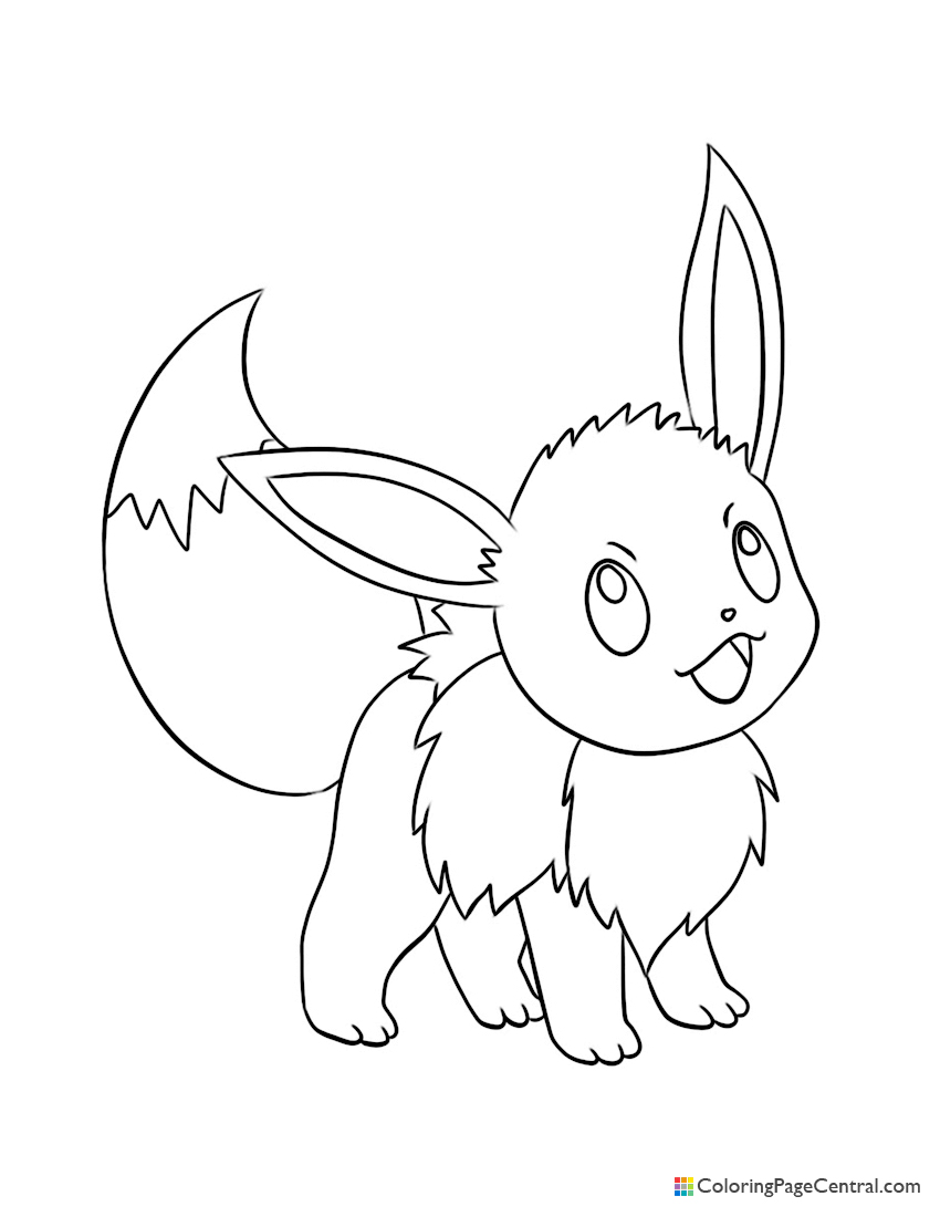 Pokemon - Eevee 03 Coloring Page