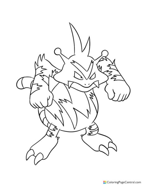 Pokemon – Electabuzz Coloring Page