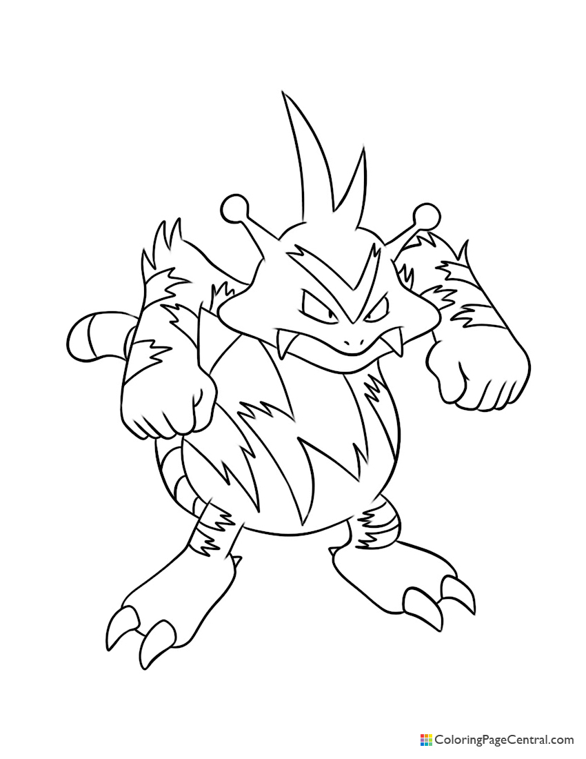 Pokemon - Electabuzz Coloring Page