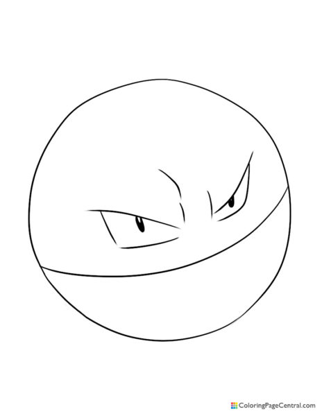 Pokemon – Electrode Coloring Page