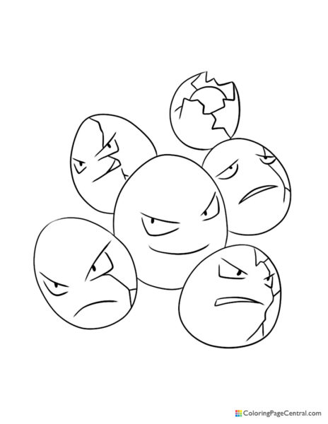 Pokemon – Exeggcute Coloring Page