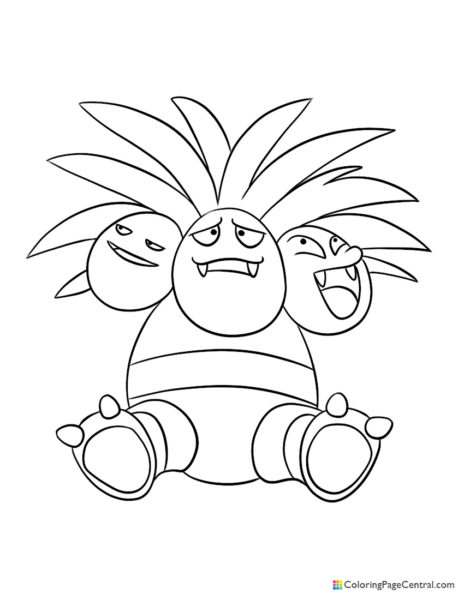 Pokemon – Exeggutor Coloring Page
