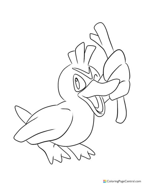 Pokemon – Farfetch'd Coloring Page