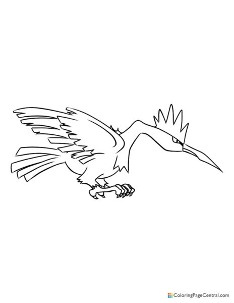 Pokemon – Fearow Coloring Page