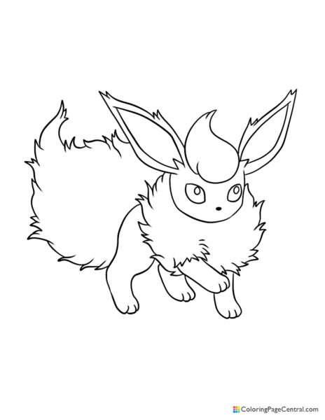 Pokemon – Flareon Coloring Page