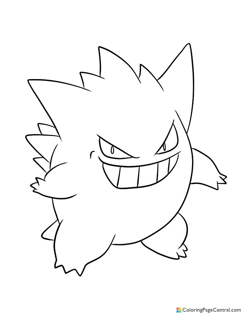 Pokemon - Gengar Coloring Page | Coloring Page Central