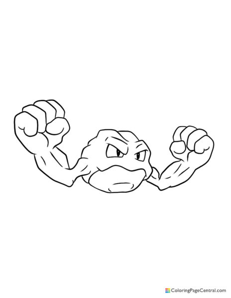 Pokemon - Geodude Coloring Page