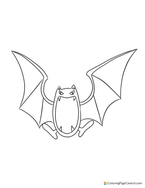 Pokemon – Golbat Coloring Page