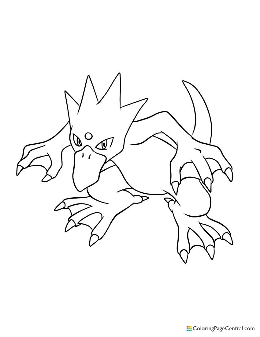 Pokemon - Golduck Coloring Page