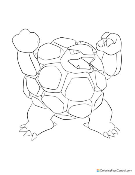 Pokemon – Golem Coloring Page
