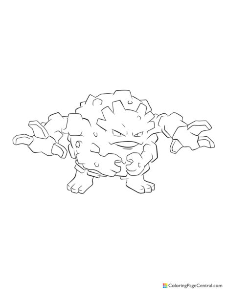 Pokemon – Graveler Coloring Page