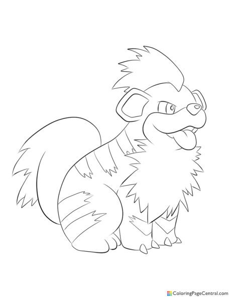 Pokemon – Growlithe Coloring Page
